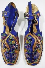 Beautiful Pair of Vintage Embroidered Shoes Made in China