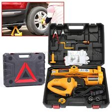 12V 2Ton Electric Scissor Lifting Jack Car Impact Wrench Tire Change Repair Tool