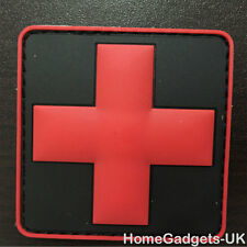 Black Medic Red Cross Tactical Morale Patch USA Army EMS EMT  Badge PVC