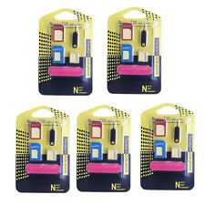 5pcs 5 in 1 Nano SIM Card to Micro Adapter Standard Converter For Samsung iPhone