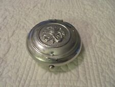 VINTAGE PIPE TOBACCO SNUFF FLIP TOP ALUMINUM TIN BOX PIPE & TOBACCO TOP