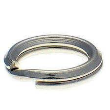 10 Sterling 925 British Silver 7mm Split Link Charm Rings for Bracelets & Repair