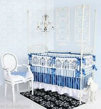 Caden Lane Luxe Collection Preston 6Pc Crib Bedding Set Include Bumper+ 2 Sheets