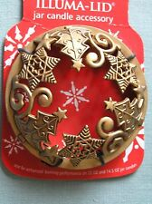 Yankee Candle Gold Christmas Tree Star Illuma Lid Topper New on Card Free Ship