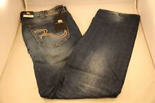 New Rock and Republic VIP Blue Jeans 36 x 34 Slim Straight Light Colburg 0632