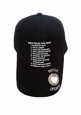 baseball cap with bottle opener in peak