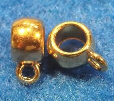 10Pcs. Gold-Plated Pendant - Charm Connector BAILS Tibetan Jewelry Finding BA107