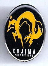 Metal Gear Fox Hound Kojima Metal Pin- Orange- FREE S&H (MIPI-MGF3)