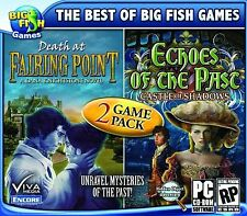 DEATH AT FAIRING POINT + ECHOES OF THE PAST Hidden Object PC Game DVD NEW