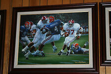 Alabama Football REBIRTH IN THE SWAMP signed art canvas by Daniel Moore
