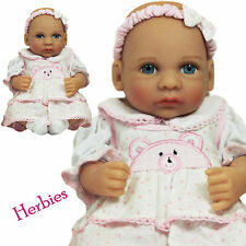 """Molly P Originals 12"""" Julie Vinyl and Cloth Baby Doll With Blanket"""