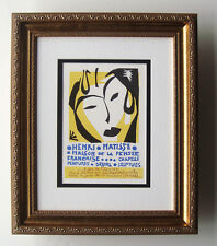 "BOLD MATISSE Antique Exhibition Poster ""Maison de la Pensee, France"" Framed COA"
