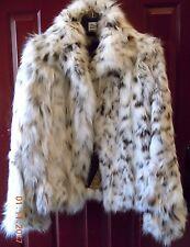 Women's ZAC POSEN Saks Fifth Avenue GORGEOUS LYNX FUR Coat Jacket $5,650 retail