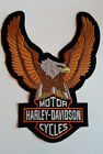 Harley Davidson Motorcycle Bikers Embroidered Sew/Iron On Patch Patches 17x22cm