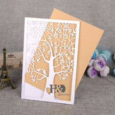120 Laser Cut Tree Design Wedding Invitation Blank Cards Personalized Printing