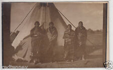 RPPC - Blackfeet Indian Squaws in Camp - early 1900s