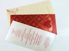Muslim Indian Hindu Sikh & Asian Wedding Cards | 100 PACK