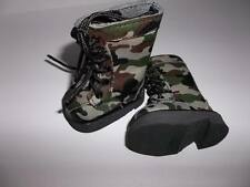 """Green Camo Boot Shoes made for18"""" American Girl Boy Doll Clothes New"""
