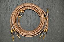 COPPIA cavo diffusori 6mmq-rame OFC copper- speaker cable-NEW- 2,5 m cablata