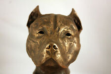 Limited Edition Bronze Pit Bull Terrier Sculpture Ornament Figurine