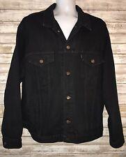 Vintage Levi's BLACK Jean Jacket 90s Men XL denim trucker Jacket 70507-4159 usa