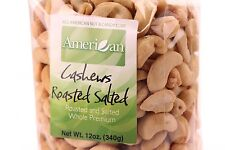 12oz Gourmet Style Bag of Roasted Salted Whole Premium Cashews [3/4 lb.]
