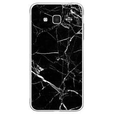 Coque Housse Samsung Galaxy J3(2016)à motif Silicone Gel qualité FR -Marbre noir