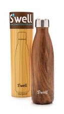 S'well NEW Stainless Teakwood hand painted 17 oz Water Bottle Swell #C1-SWB (#7)