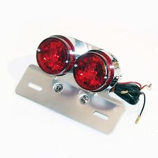 MINI TWIN DUAL TAIL LIGHT w/LICENSE BKT CAFE RACER STREET FIGHTER BOBBER CHOPPER
