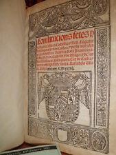 CONSTITUCIONS FETES en la cuarta cort de Cathalunya - Barcelona  1537  (Armi)