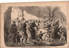 1862 Harpers Weekly Print - New Orleans is starving-fed by U.S. Military