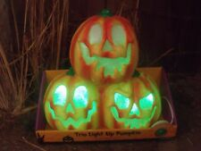 HALLOWEEN LIGHTED MUSICAL CARVED PUMPKIN STACK ANIMATED LIGHT SHOW WITCH PROP