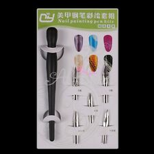 Metal Head Pen Nail Art Flower Line Drawing Painting Acrylic