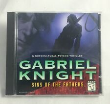 Gabriel Knight Sins Of The Fathers - (PC, 1996) (NEW) Vintage Sierra Game CD