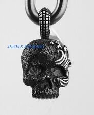 DAVID YURMAN ST. SILVER MEDIUM WAVES SKULL TALISMAN PENDANT NECKLACE NEW # 494