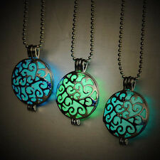 Glow in Dark Pendant Necklace Fashion Jewelry Chain Hollow Out Round Top Quality