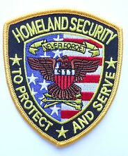 HOMELAND SECURITY TO PROTECT AND SERVE HOOK LOOP PATCH