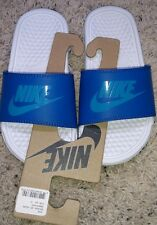 New Nike Benassi JDI (Little Kid/Big Kid) Blue Sandals 13 Youth