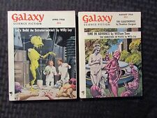 1956 GALAXY Science Fiction Digest Magazine VF- 7.5 April/Aug LOT of 2 Willy Ley