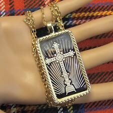 9ct gold New bullion faith pendant  & chain with one ounce fine silver ingot