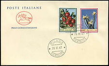 Italy 1967 Fruit, Flowers FDC First Day Cover #C21098