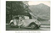 """Publicité Ancienne """" Voiture  Chenard & Walcker 1934  ( P 34 )"""
