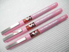 3 x Pilot V5 Hi-Tecpoint 0.5mm Extra Fine Pure Liquid Ink Rollerball pen, Pink