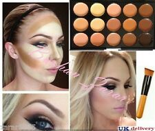 15 colori Concealer Foundation contorno e Pennello Crema Viso Make Up Tavolozza #2