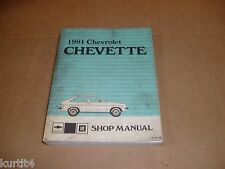 1981 Chevrolet Chevette service shop dealer repair manual