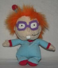 "Chuckie Rugrats Plush Stuffed Toy in Blue Pajamas with Night Cap Hat 8"" Doll"