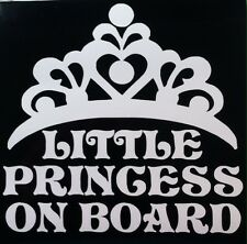 LITTLE PRINCESS ON BOARD vinyl decal