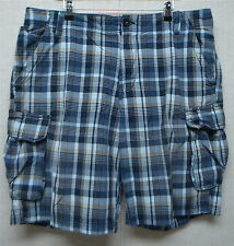 ROUTE 66 - Original Clothing Co. - Men's SHORTS - BLUE Plaid Cotton - Size 42