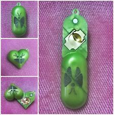 The Illusionist Necklace Locket Butterfly Pendant Necklace Photo Frame - Green