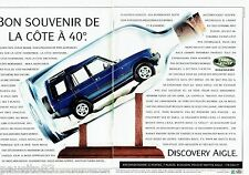 PUBLICITE ADVERTISING 116  1997  le Land Rover Discovery Aigle (2p)